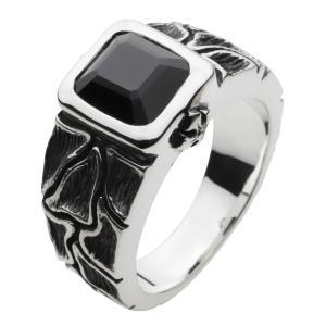 シルバーアクセサリー シルバーリング 指輪メンズ オニキスリング ハードリング 指輪シルバー925リング 男性用|e-standard