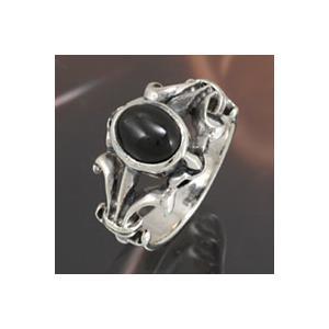 シルバーアクセサリー シルバーリング 指輪メンズ シルバー925リング 百合・ユリの紋章 ブラックスター 男性用|e-standard