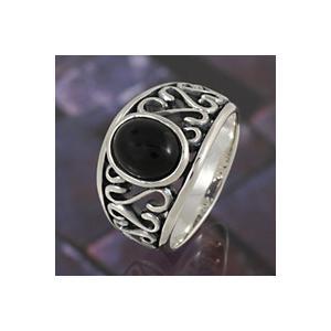 【セール】シルバーアクセサリー シルバーリング 指輪メンズ オニキスリング シルバー925リング 男性用|e-standard