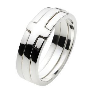 クロス シルバーリング 指輪メンズピンキーリング|e-standard