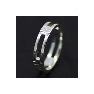 【セール】シルバーリング 指輪メンズ クロス|e-standard