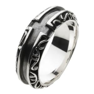 シルバーリング クロス メンズ指輪 ピンキーリング|e-standard