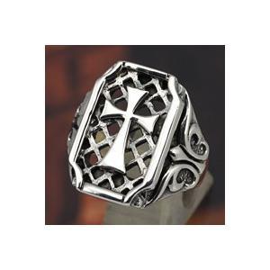 指輪 シルバーリング メンズ クロス 十字架 ゴシック シルバー925|e-standard