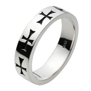 シルバーアクセサリー クロスシルバーリング 指輪メンズ クロスリング シンプル 指輪シルバー925リング 男性用 e-standard