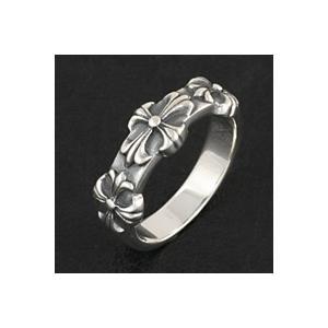 シルバーリング 指輪メンズ クロスリング e-standard