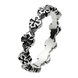シルバーアクセサリー シルバーアクセ シルバーリング レディース 女性用 指輪 アイアンクロス 十字架 ハード|e-standard