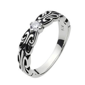 シルバーアクセサリー シルバーアクセ シルバーリング レディース 女性用 指輪 ジルコニア ハード ピンキーリング|e-standard