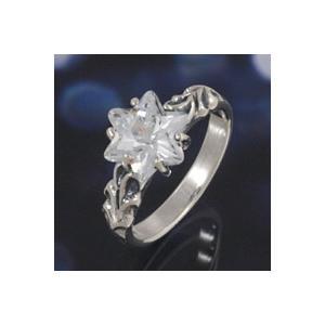 シルバーアクセサリー シルバーアクセ シルバーリング レディース 女性用 指輪 六芒星 スター ジルコニア ピンキーリング|e-standard