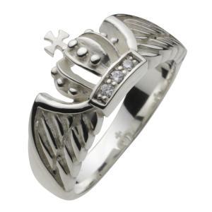 シルバーアクセサリー シルバーアクセ シルバーリング レディース 指輪 クラウン 王冠 十字架 羽根 女性用|e-standard