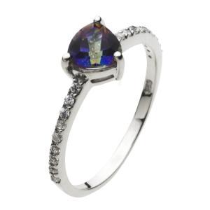 指輪 シルバーリング ミスティッククォーツ レディース cz|e-standard