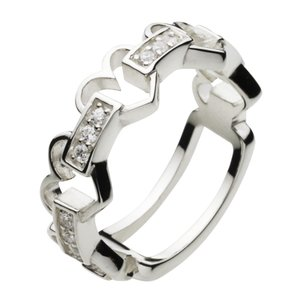 シルバーアクセサリー シルバーアクセ シルバーリング レディース 女性用 指輪 ハート ジルコニア|e-standard