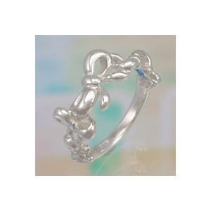 シルバーアクセサリー シルバーアクセ シルバーリング レディース 女性用 指輪 リボン 蝶 ピンキー|e-standard