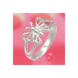 シルバーアクセサリー シルバーアクセ シルバーリング レディース 女性用 指輪 蝶 ピンキーリング|e-standard