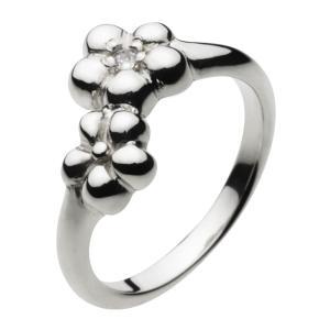 シルバーアクセサリー シルバーアクセ シルバーリング レディース 女性用 指輪 フラワー ウメの花 ジルコニア|e-standard