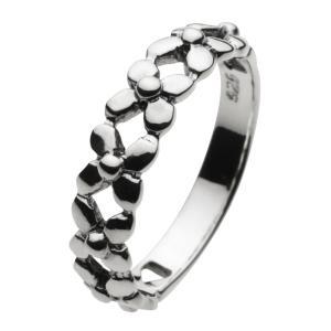 シルバーアクセサリー シルバーアクセ シルバーリング レディース 女性用 指輪 ピンキーリング フラワー 花|e-standard