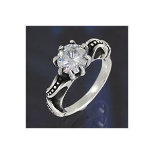 シルバーアクセサリー シルバーアクセ シルバーリング レディース 女性用 指輪 ピンキーリング ジルコニア|e-standard