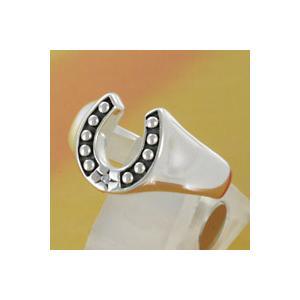 シルバーアクセサリー シルバーリング(指輪) キッズ用 馬蹄 ホースシュー ピンキーリング|e-standard