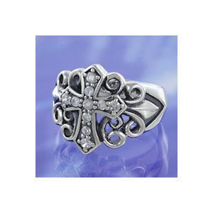 シルバーアクセサリー シルバーリング(指輪) キッズ用 クロス ピンキーリング|e-standard