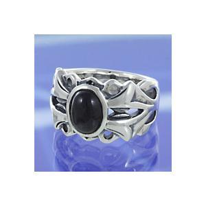 シルバーアクセサリー シルバーリング(指輪) 子供用 ブラックスター ピンキーリング|e-standard