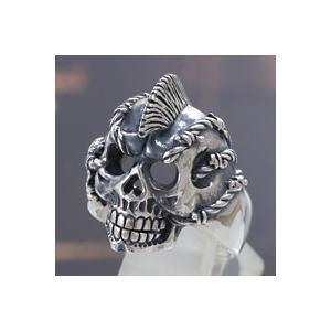 シルバーアクセサリー シルバーリング(指輪) キッズ用 パンク スカル|e-standard