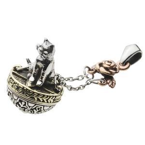 ペンダントトップ 猫 ねこ ブランコ チャーム 薔薇 ローズ シルバー925 ペンダント メンズ シルバーペンダント シルバーアクセサリー fp0512|e-standard
