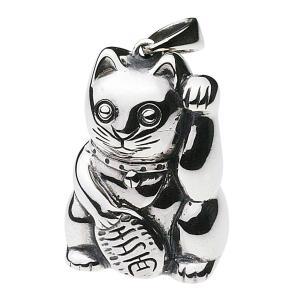 【FIGMART】招き猫 シルバー925 ペンダント メンズ【シルバーペンダント シルバーアクセサリー】fp0415 e-standard