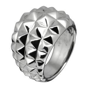 シルバーリング 指輪 メンズリング スタッズ ハード シルバー925 e-standard