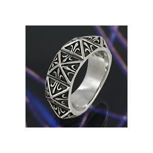 シルバーアクセサリー シルバーリング 指輪 メンズ スタッズ ハード ゴシック シルバー925|e-standard