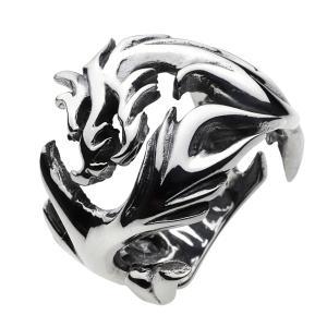 シルバーリング 指輪 メンズ ドラゴン 龍 竜 シルバーアクセサリー シルバー925 ピンキーリング|e-standard
