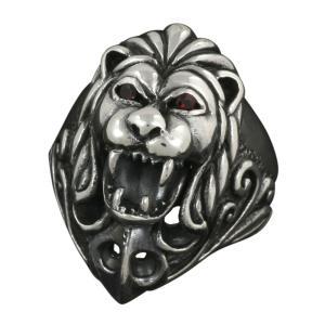 シルバーリング 指輪 メンズリング ライオン 獅子 シルバー925 ハード ゴシック e-standard