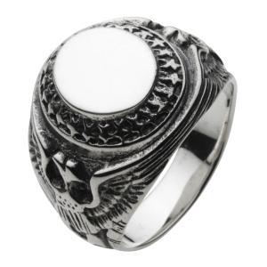 カレッジリング 指輪 メンズ シルバー925 シルバーリング イーグル 星 スター e-standard
