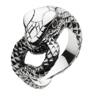 シルバーリング 指輪 メンズ ヘビ へび 蛇 スネーク リング シルバー925|e-standard