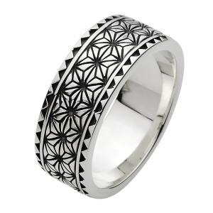 指輪 メンズ シルバーリング 和柄 和風 リング シルバー925 ピンキーリング シルバーアクセサリー|e-standard