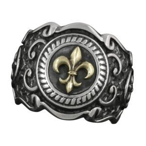 シルバーリング 指輪 メンズ シルバー925 ゴシック 紋章 シルバーアクセサリー e-standard