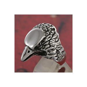 シルバーリング 指輪 メンズ イーグル 鷹 シルバー925 インディアンジュエリー e-standard