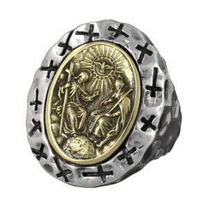 シルバーリング 指輪 メンズ キリスト クロス 十字架 神 メキシカンリング シルバー925|e-standard
