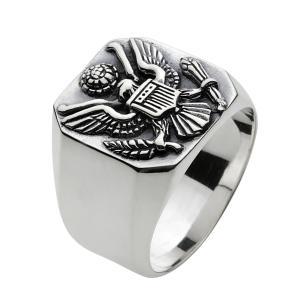 シルバーリング 指輪 メンズ イーグル 鷹 紋章 エンブレム シルバーアクセサリー e-standard