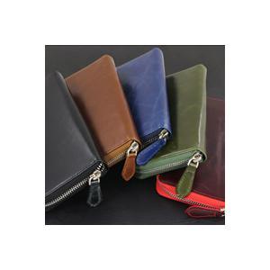 財布 メンズ レザー 長財布 さいふ サイフ 牛革 カラー|e-standard