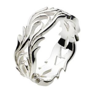指輪 メンズ シルバーリング ピンキーリング アラベスク 唐草模様 シルバー925|e-standard