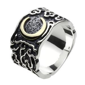 シルバーリング 指輪 メンズ ムーン 三日月 和風 和柄 シルバー925|e-standard