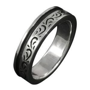 シルバーアクセサリー シルバーリング 指輪 メンズ アラベスク ハード 唐草模様 シルバー925|e-standard