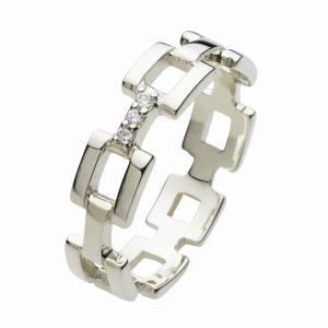 シルバーアクセサリー シルバーリング ピンキーリング 指輪 メンズ チェーン シルバー925|e-standard