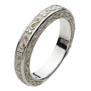 シルバーリング 指輪 メンズ ピンキーリング アラベスク 唐草 シルバー925 シルバーアクセサリー|e-standard