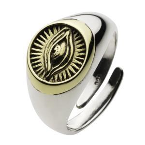 シルバーリング 指輪 メンズ プロビデンスの目 ホルス アメリカ フリーメイソン シルバー925|e-standard