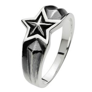 指輪 メンズ シルバーリング スター 五芒星 シルバー925|e-standard