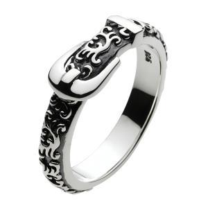 シルバーリング 指輪 メンズ ベルト アラベスク 唐草模様 シルバー925 シルバーアクセサリー|e-standard