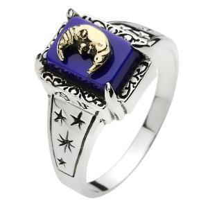 シルバーリング 指輪 メンズ ラピスラズリ ムーン 三日月 星 シルバー925|e-standard