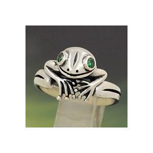シルバーリング 指輪 メンズ カエルグッズ 蛙 シルバー925|e-standard