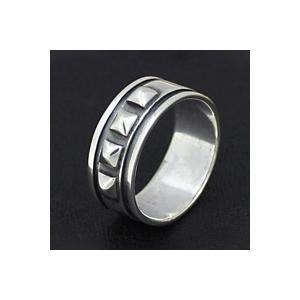 【限定タイムセール 1月26日まで】シルバーアクセサリー シルバーリング 指輪 メンズ スタッズ ハード ロック ピンキーリング シルバー925|e-standard
