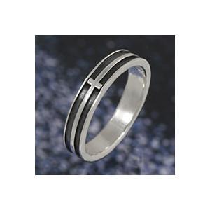 シルバーリング 指輪 メンズ ピンキーリング クロス 十字架 シンプル シルバー925|e-standard